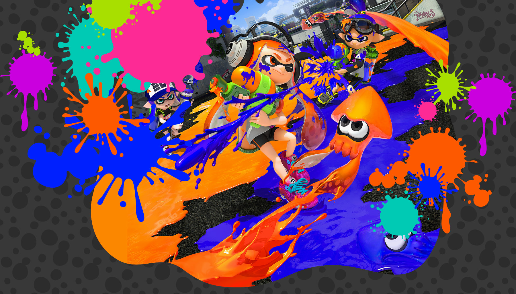 splatoon lets you use aim with the gamepad s controls but