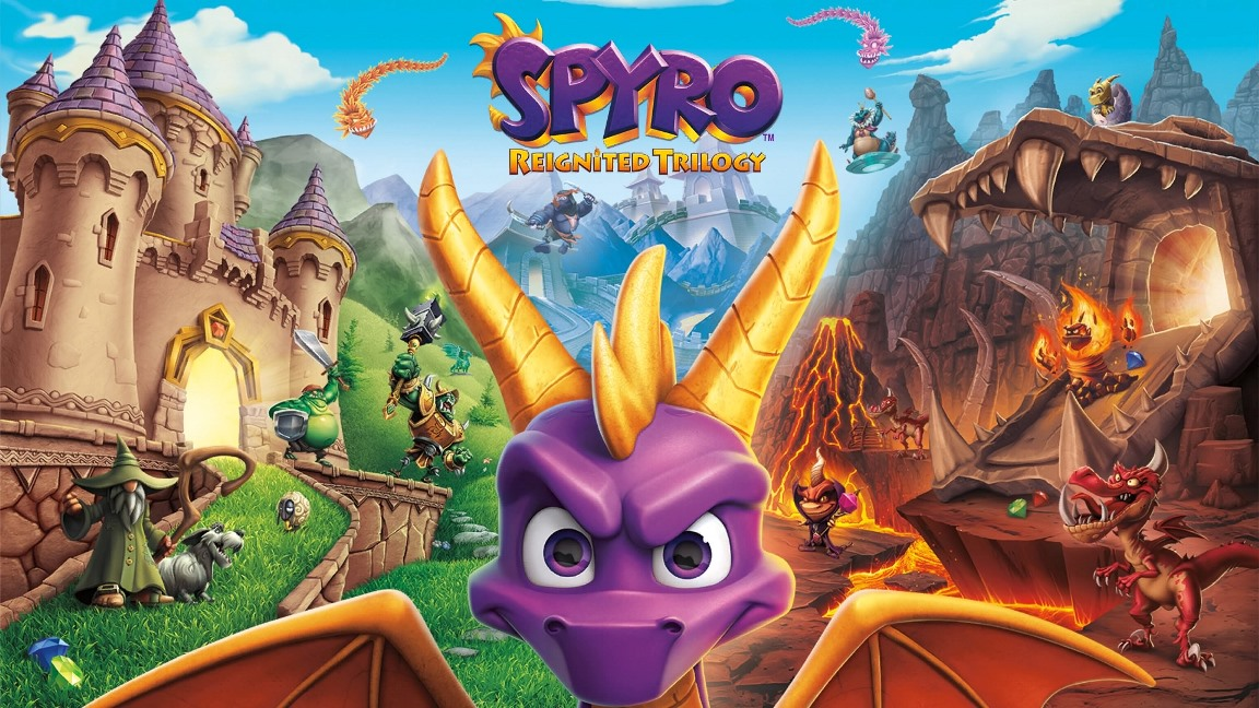 Lots of Spyro Reignited Trilogy Switch footage