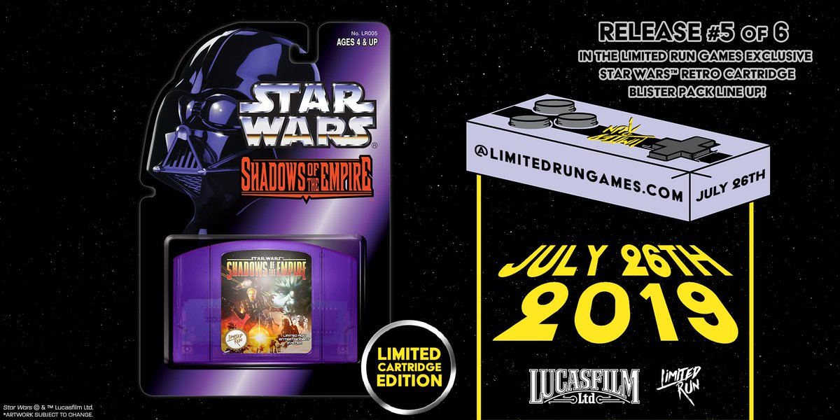 Limited Run Games re-releasing Star Wars: The Empire Strikes Back for NES and Game Boy, Star Wars: Shadows of the Empire for N64