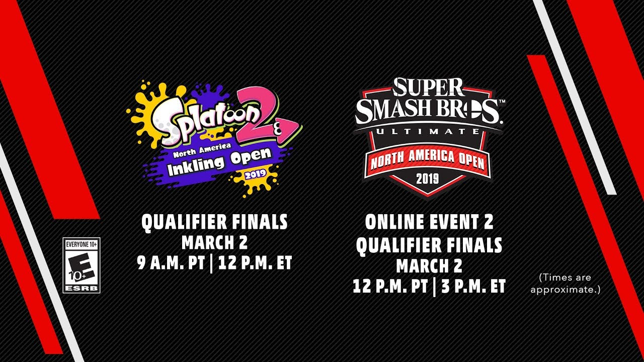 fe84901eabb Splatoon 2 NA Inkling Open 2019   Super Smash Bros. Ultimate NA Open ...