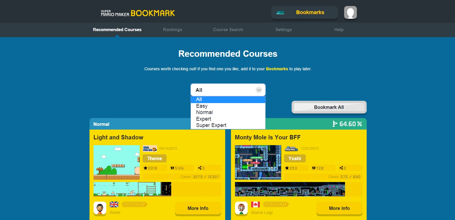 Super Mario Maker Bookmark site now lets you filter levels