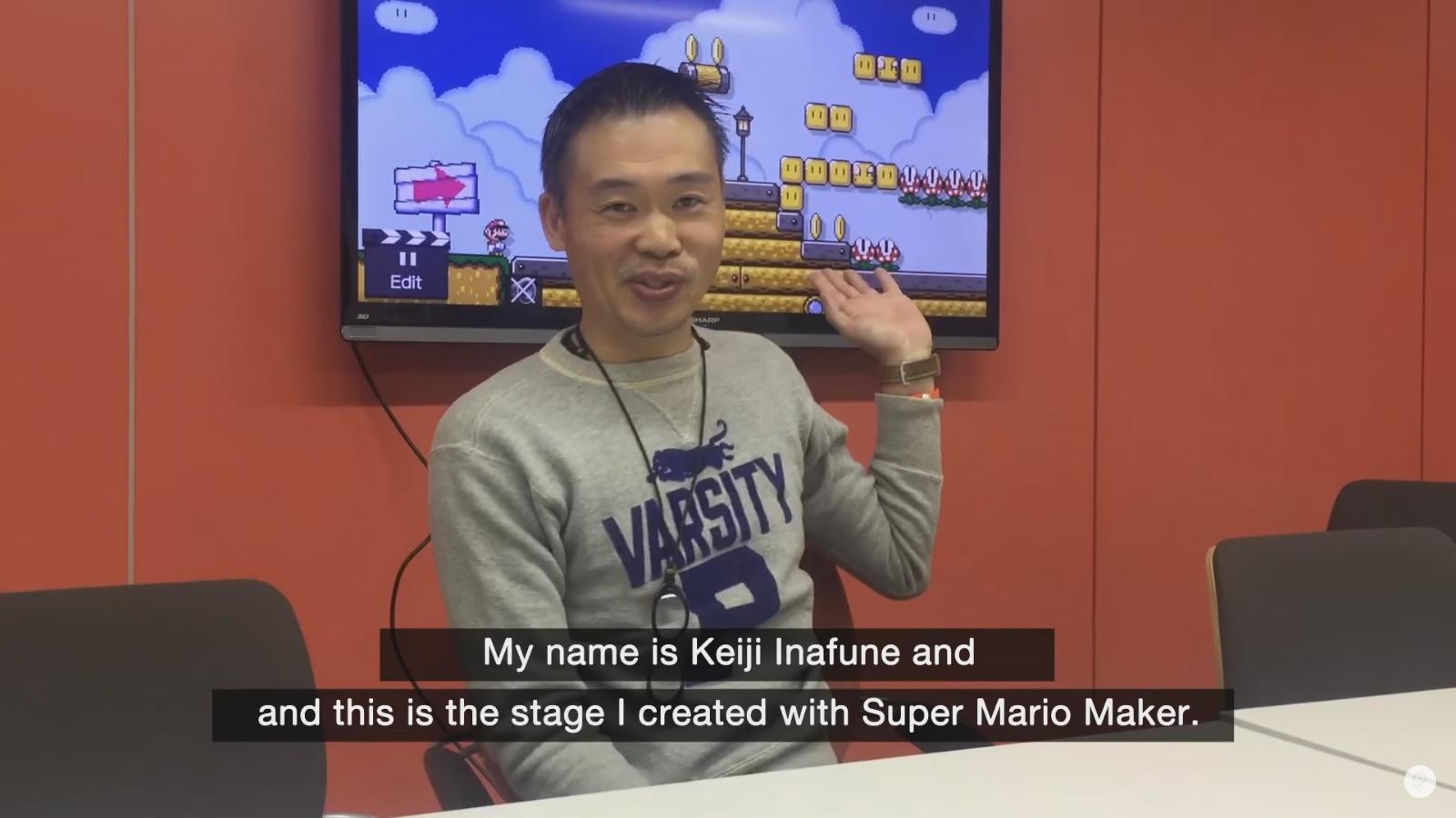 Keiji Inafune makes a Super Mario Maker level - Nintendo