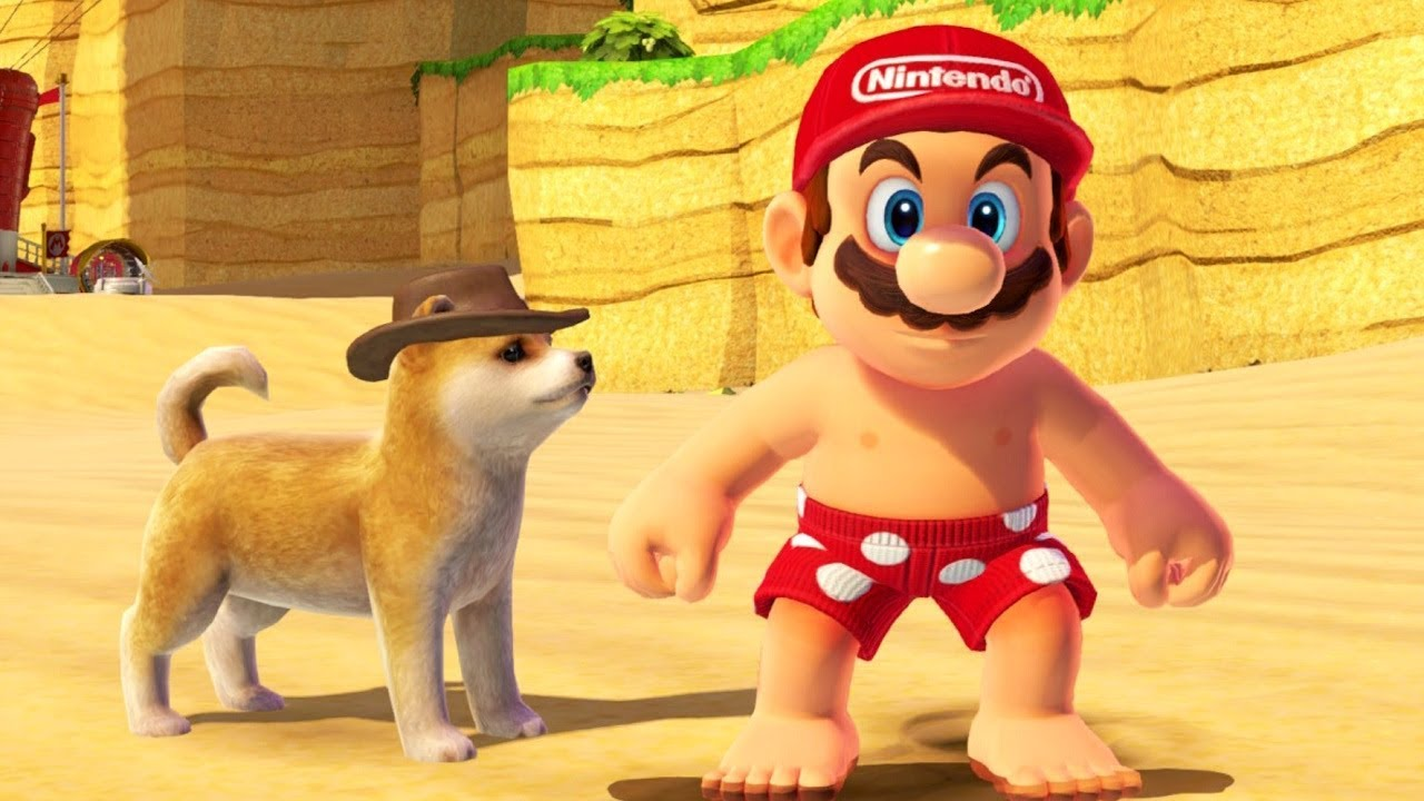 Super Mario Odyssey's dog model was ported straight from Nintendogs + Cats