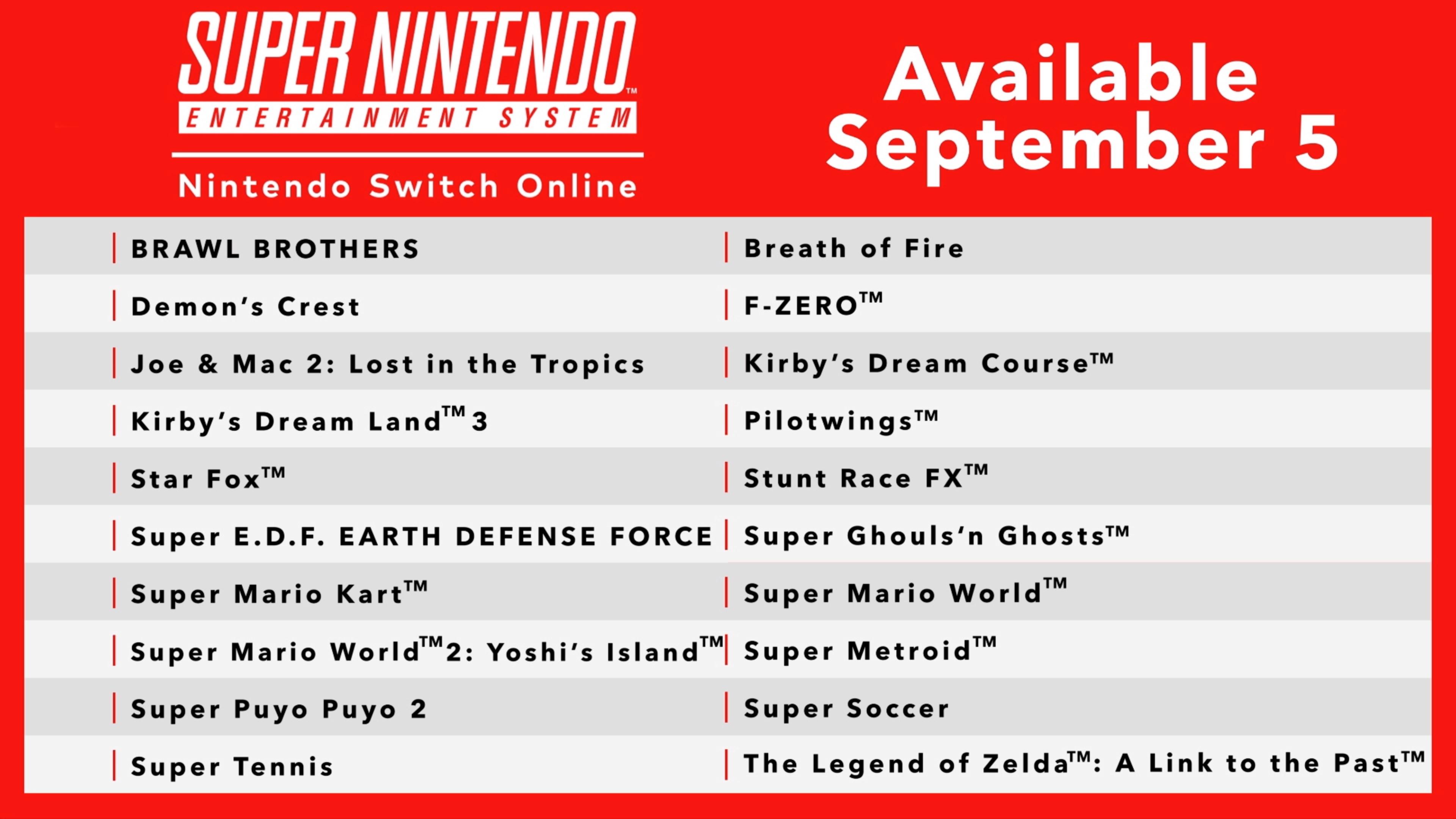 Super Nintendo - Nintendo Switch Online