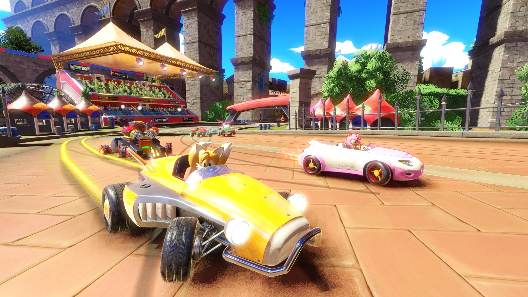 Team Sonic Racing Shows Off New Market Street Track Nintendo - Market street car show