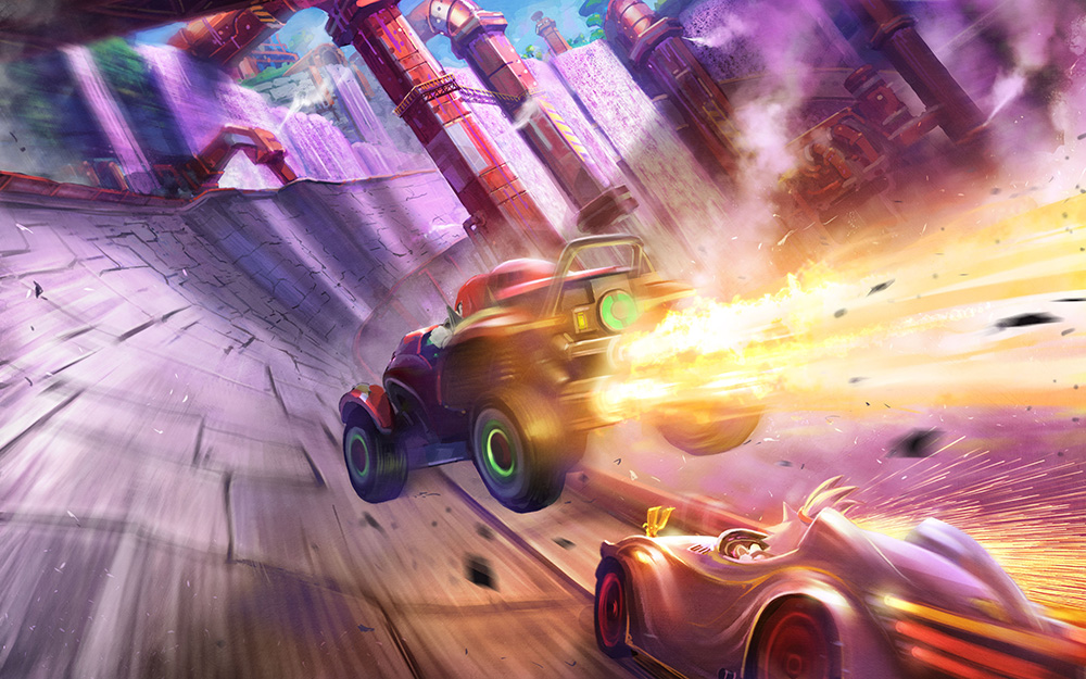 New Team Sonic Racing screenshots show Doctor's Mine track and more