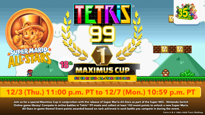 Tetris 99 - Super Mario All-Stars Edition