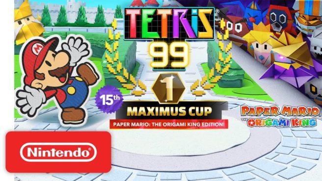 Tetris 99 - Paper Mario: The Origami King