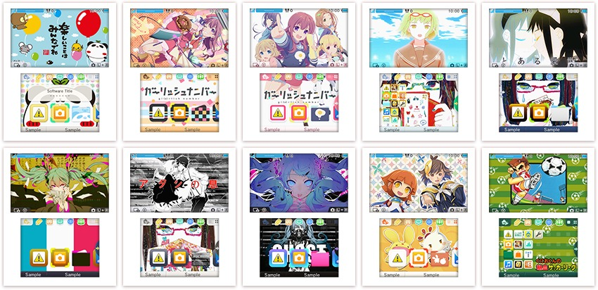 several new 3ds themes are out now in japan heres the lineup