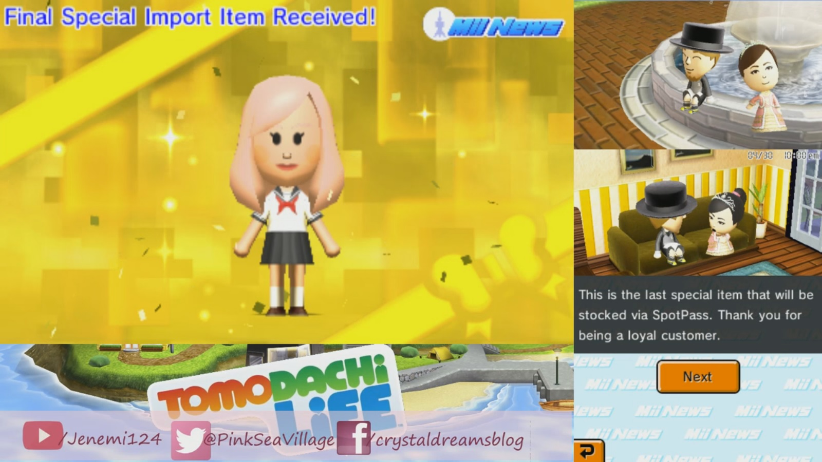 final spotpass item distribution goes out for tomodachi life
