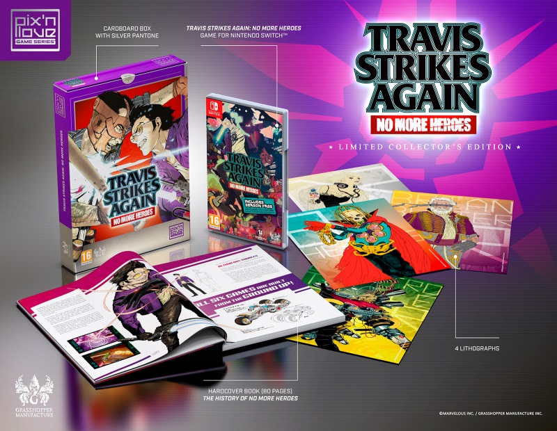 Pix'n Love Publishing offering Travis Strikes Again: No More Heroes Collector's Edition
