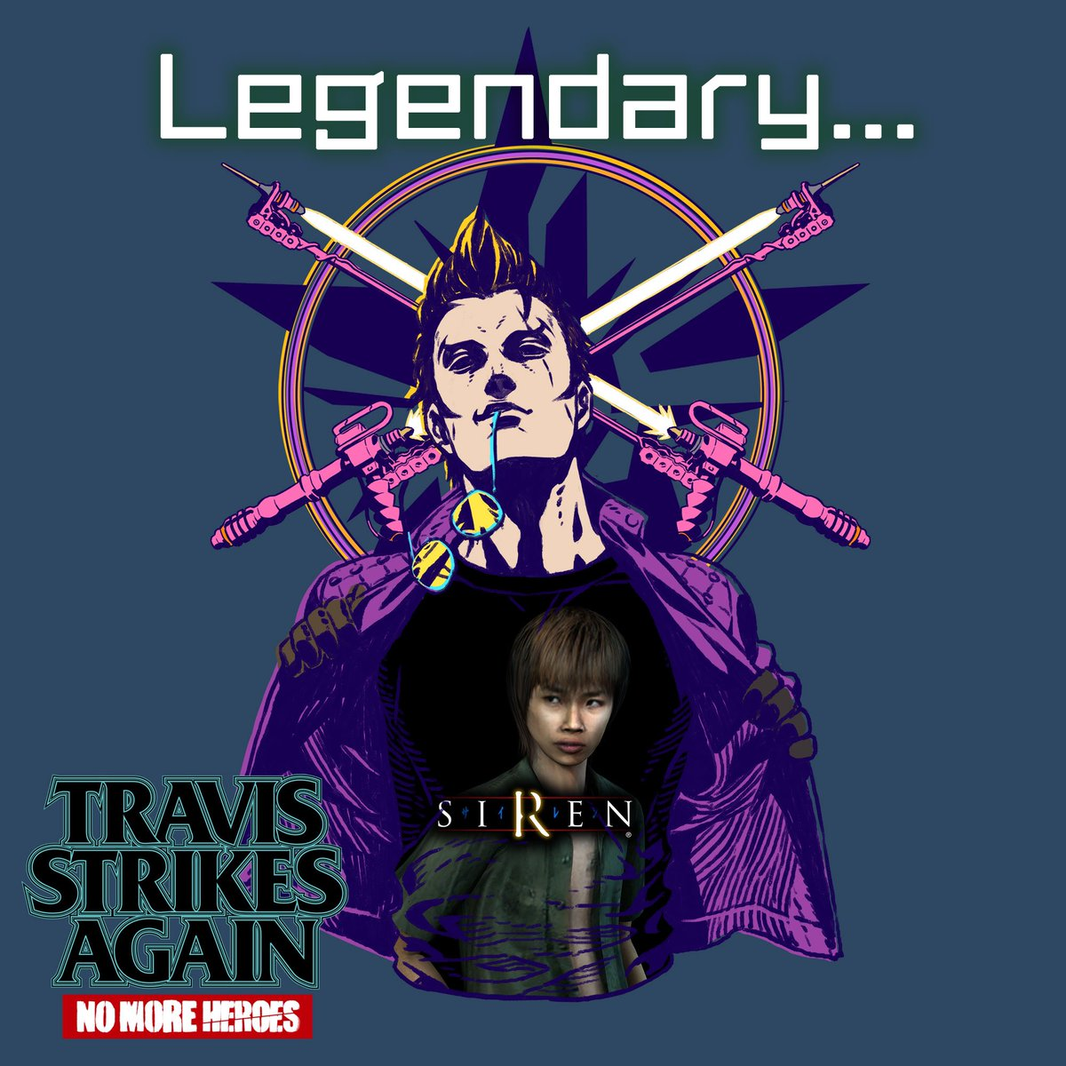 Travis Strikes Again: No More Heroes adding a t-shirt based on the PlayStation horror series Siren