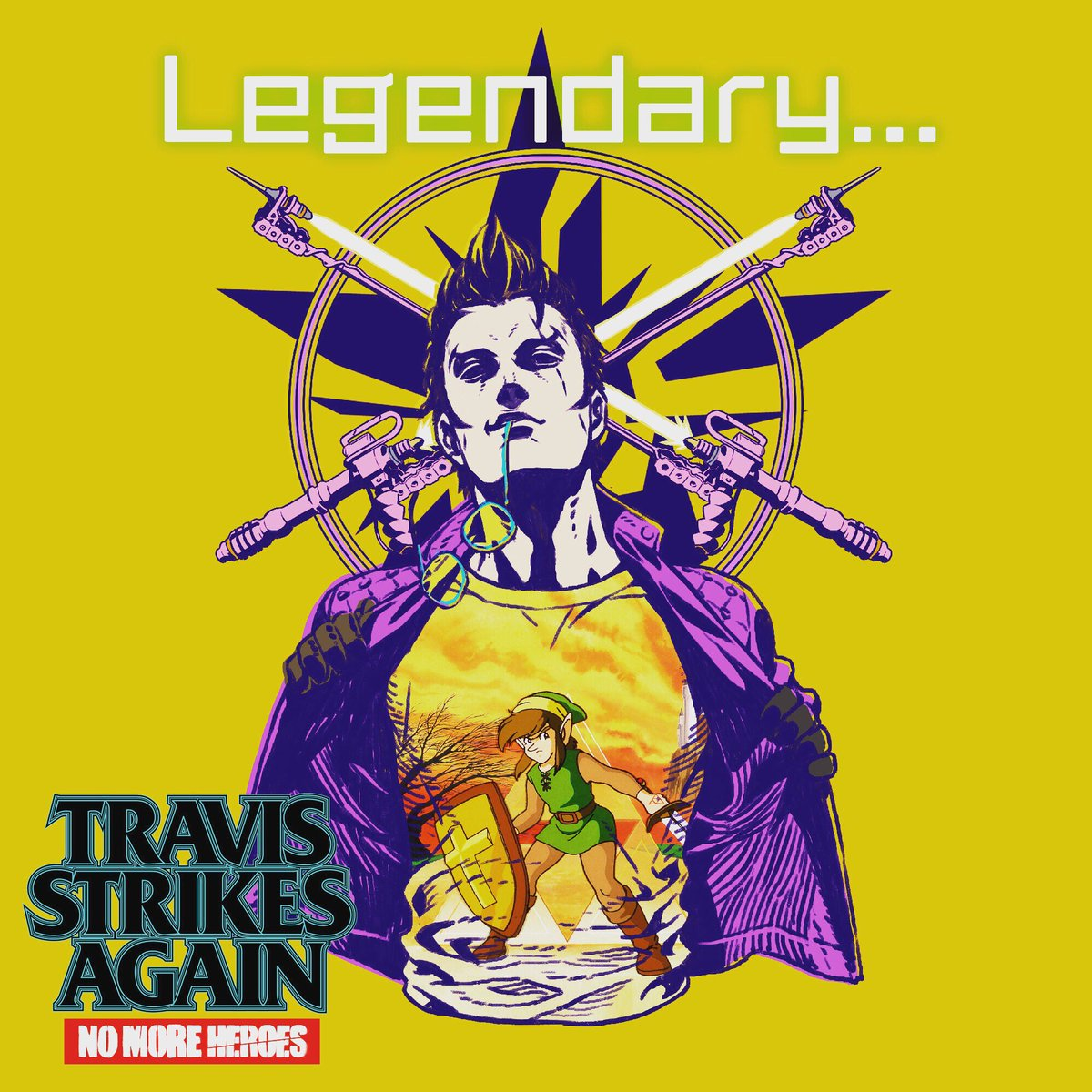 Travis Strikes Again: No More Heroes reveals new t-shirts, including Zelda II