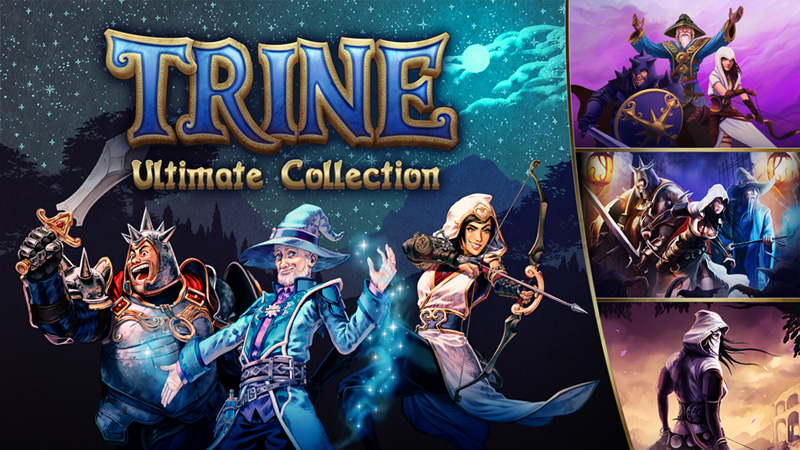 Trine: Ultimate Collection has Trine 4 on the cartridge, but 1-3 are downloads