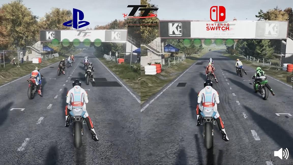 Video: TT Isle of Man Switch vs. PS4 comparison