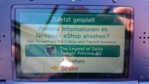 Update: Or not? - Loading fake Twilight Princess 3D eShop