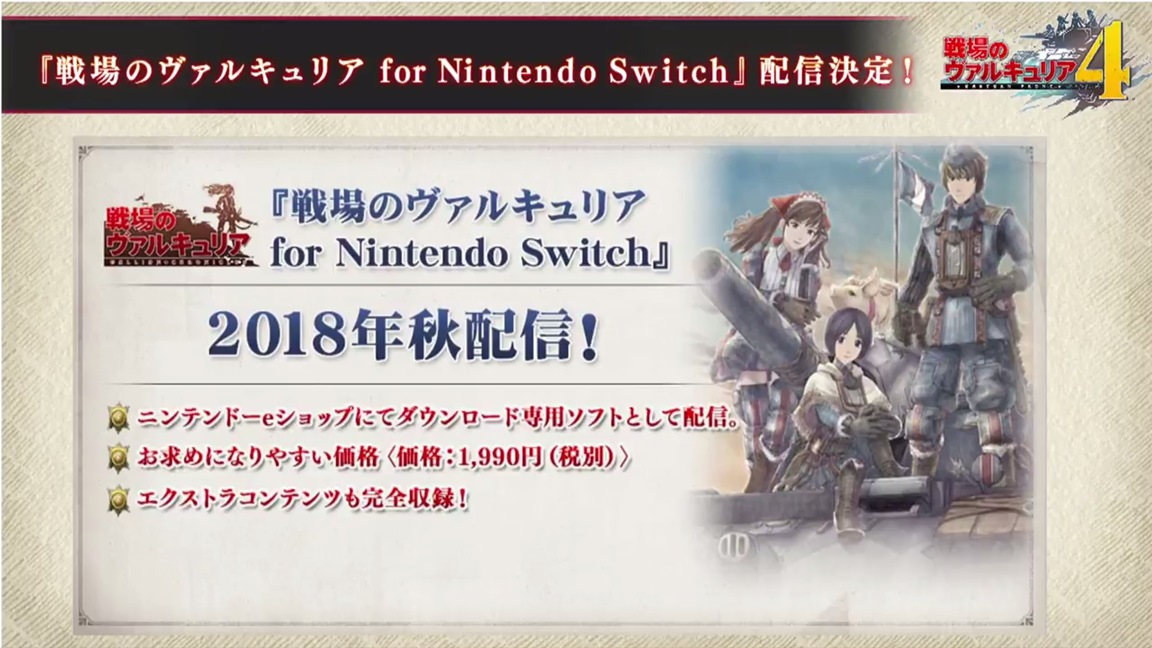 Valkyria Chronicles for Switch