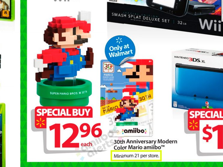 Walmart Will Have A Minimum Of 21 Modern Color Mario Amiibo