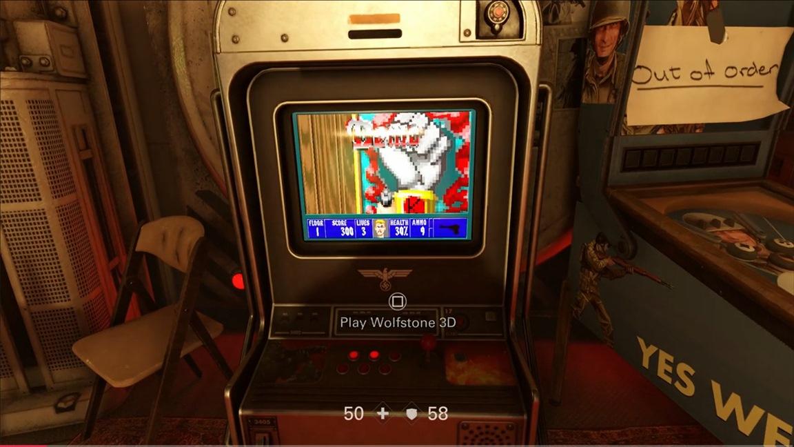 Wolfenstein II has its own version of Wolfenstein 3D