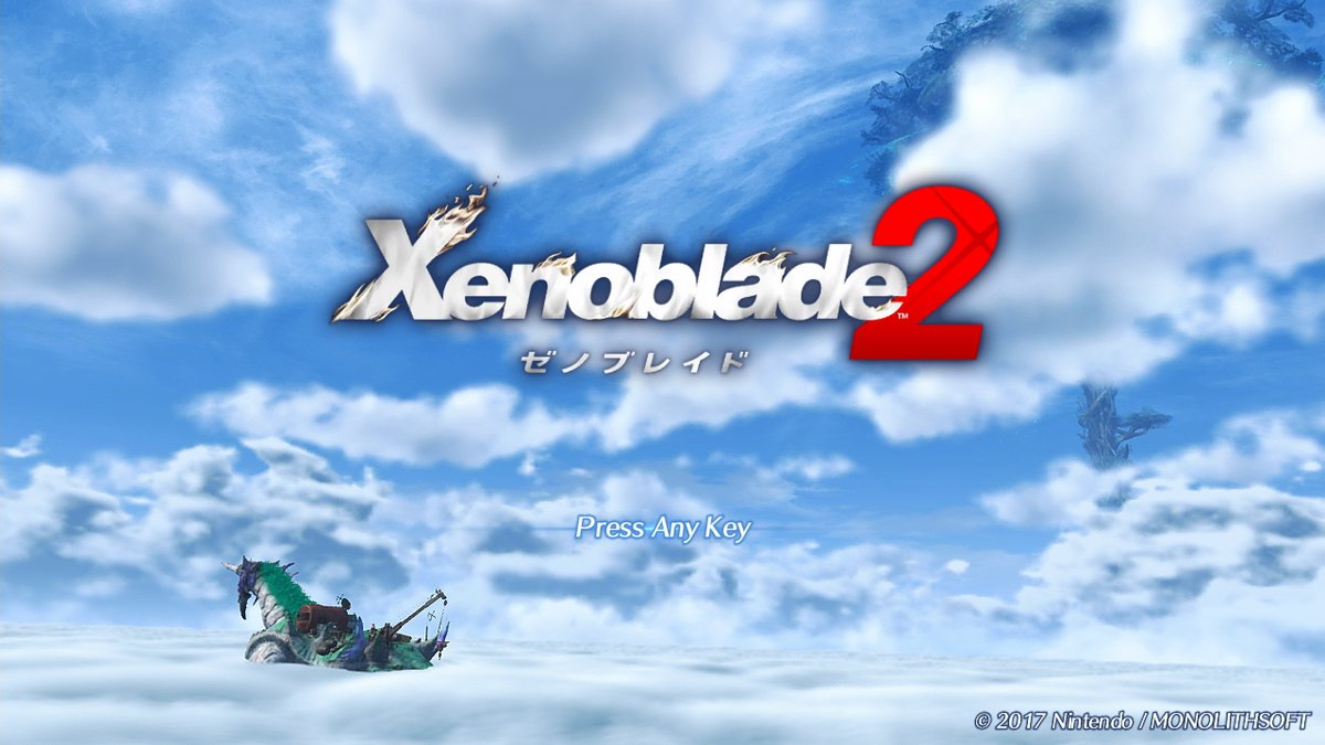 A Look At The Xenoblade Chronicles 2 Title Screen Nintendo