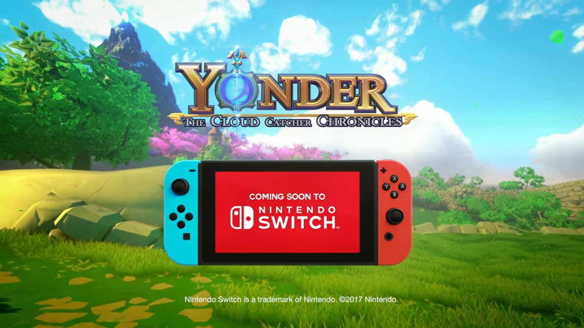 yonder the cloud catcher chronicles officially announced for switch