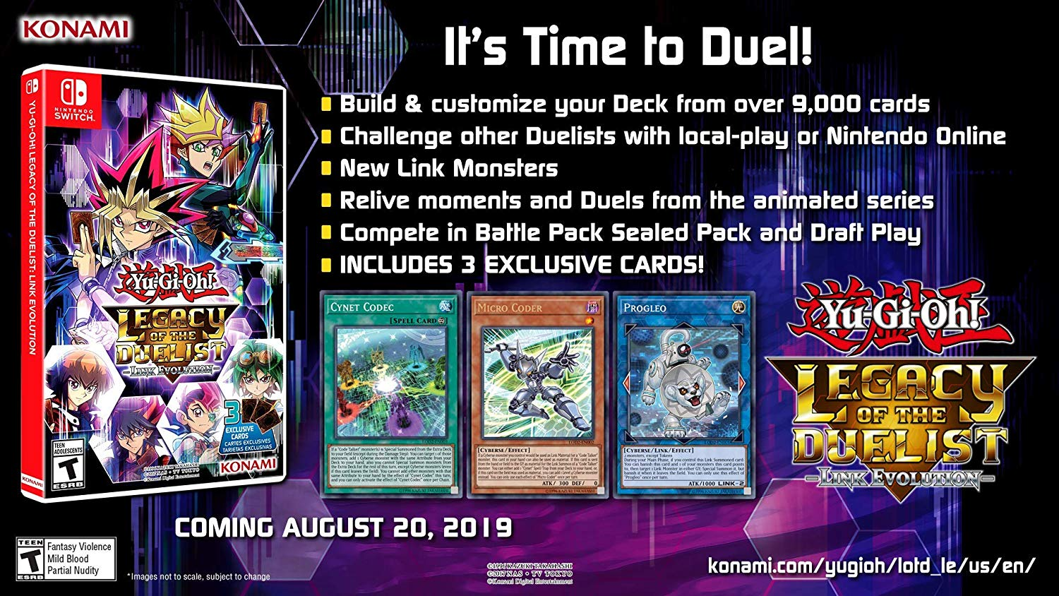 Yu-Gi-Oh! Legacy of the Duelist: Link Evolution boxart, pre-orders open
