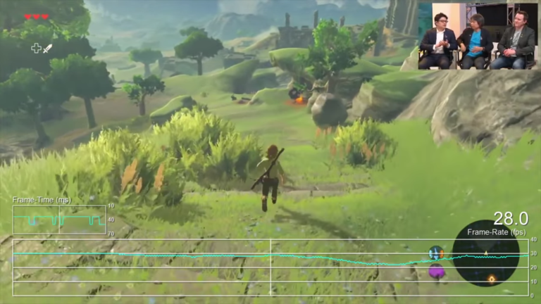 The Legend of Zelda: Breath of the Wild frame rate test - Nintendo
