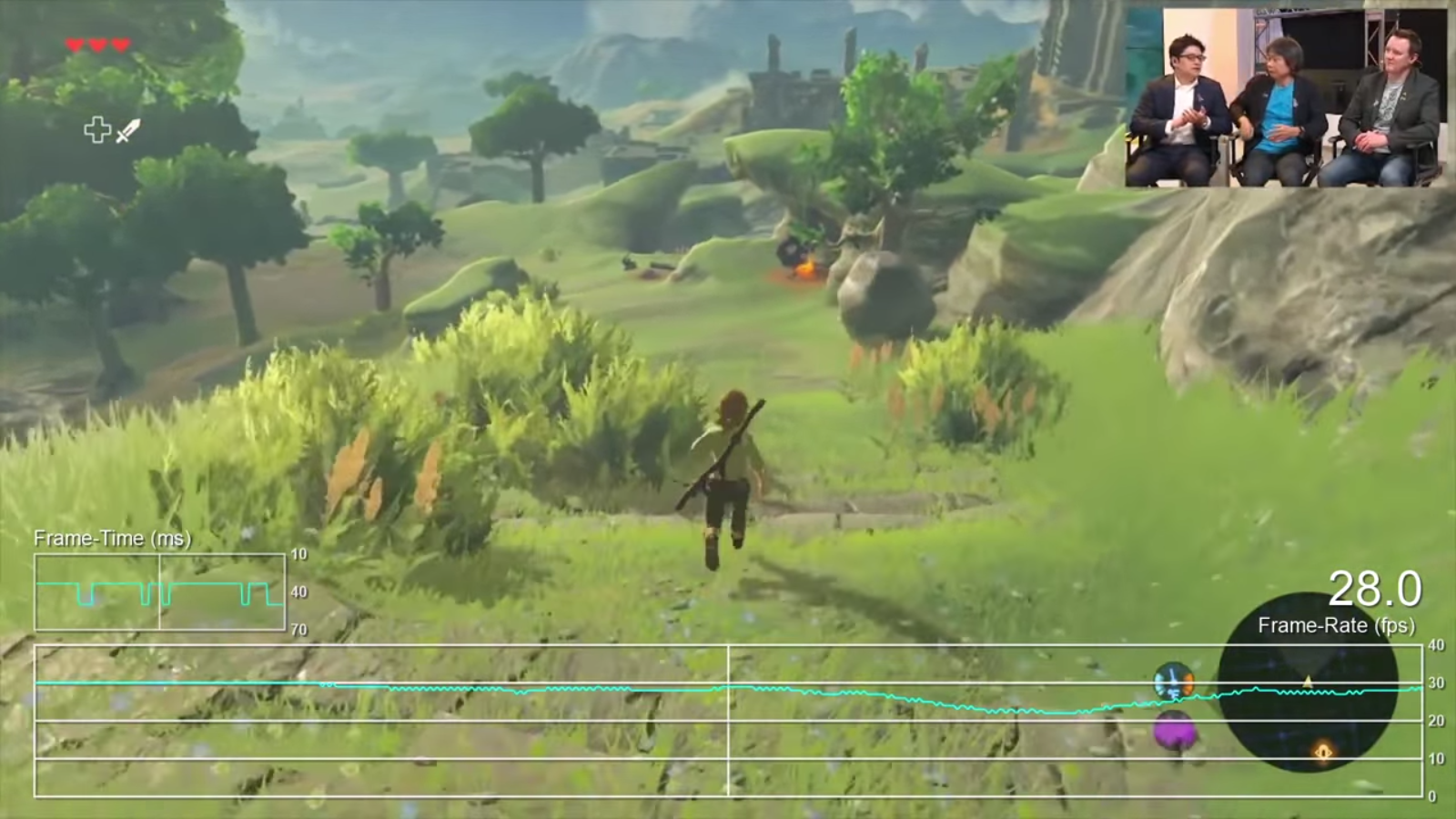 The Legend of Zelda: Breath of the Wild frame rate test - Nintendo ...
