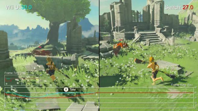 Zelda: Breath of the Wild - Switch vs  Wii U comparison +