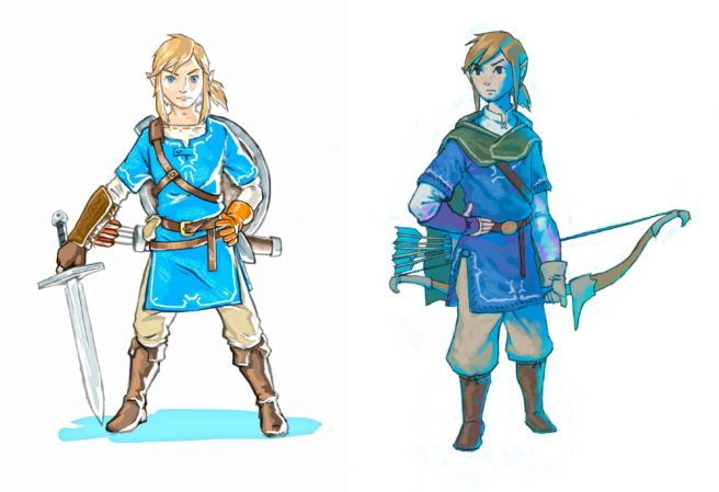 Two New Pieces Of Concept Art From The Legend Zelda Breath Wild Ended Up On Series Official Facebook Page Just A Short While Ago