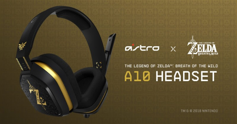 Astro Gaming reveals official Switch A10 Headset styled for Zelda: Breath of the Wild