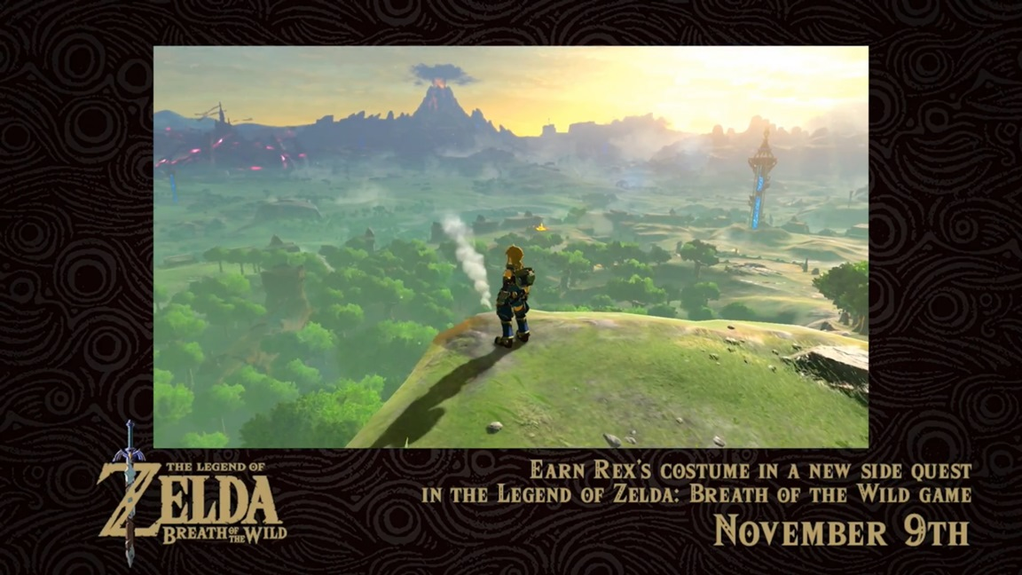 Zelda Breath of the Wild update (version 1.3.3) footage on acquiring Xenoblade Chronicles 2 ...