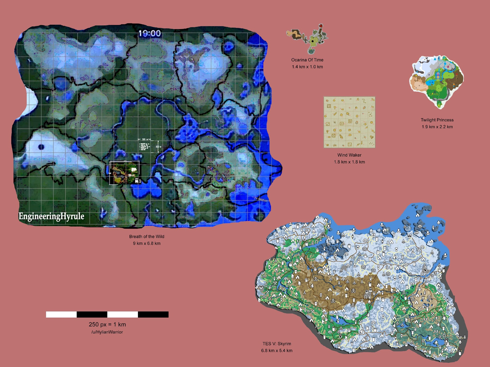 An estimated look at the size of zelda breath of the wilds map zelda breath of the wild has a massive world to explore at last years e3 nintendo said that the great plateau represents an extremely small percentage gumiabroncs Images