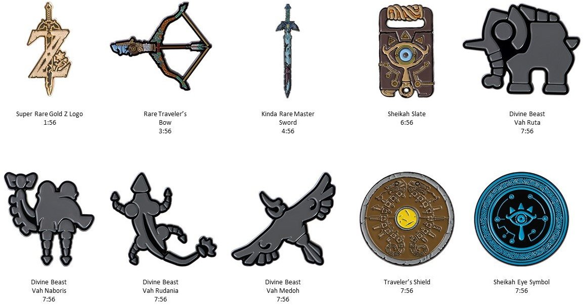 Zelda: Breath of the Wild getting collector pins - Nintendo