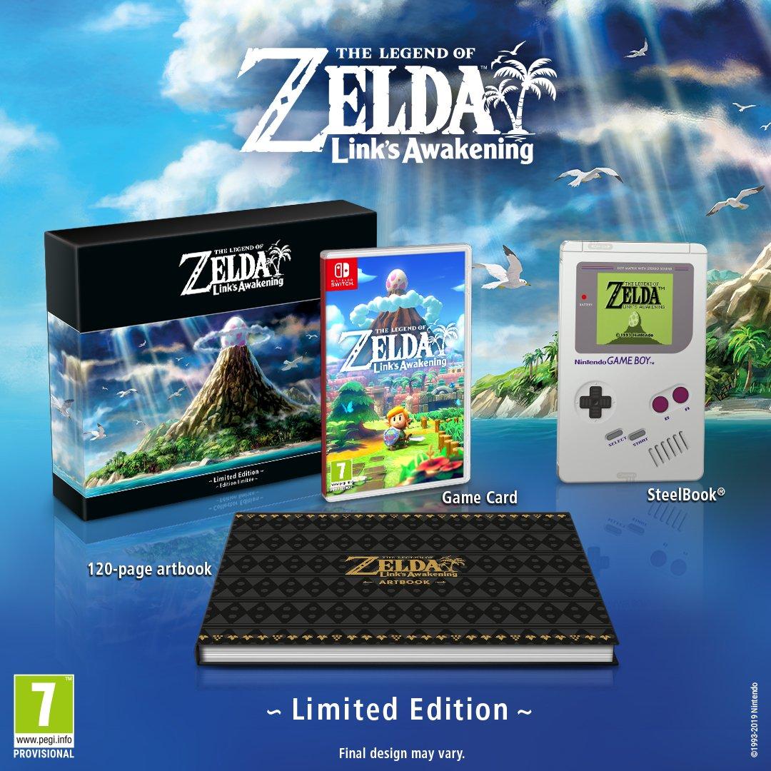 Zelda Link S Awakening Limited Edition Back Up On The
