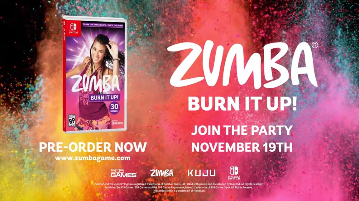 Zumba Burn it Up! announced for Switch, out in November
